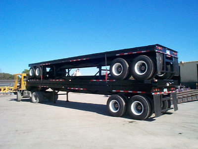 Picture of Flatbed Trailer Stock.