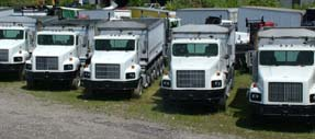 Picture of LaPine's International Dump Truck Stock.